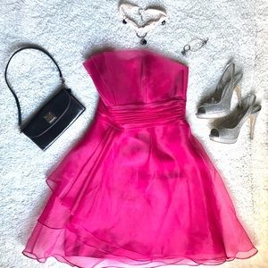Dresses & Skirts - Hot pink strapless formal dress or Prom Dress